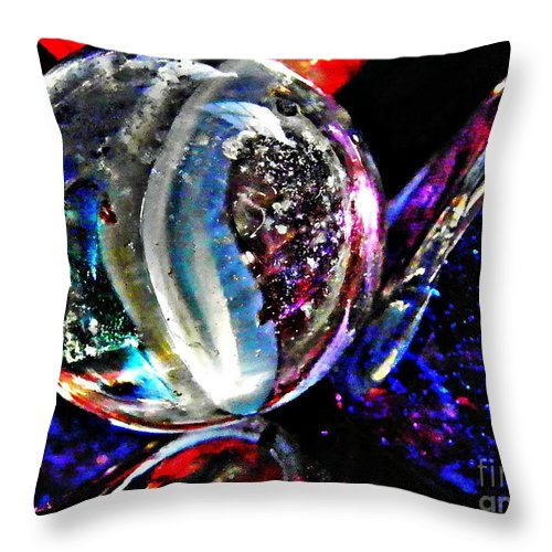 Glass Abstract 99 Throw Pillow featuring the photograph Glass Abstract 99 by Sarah Loft