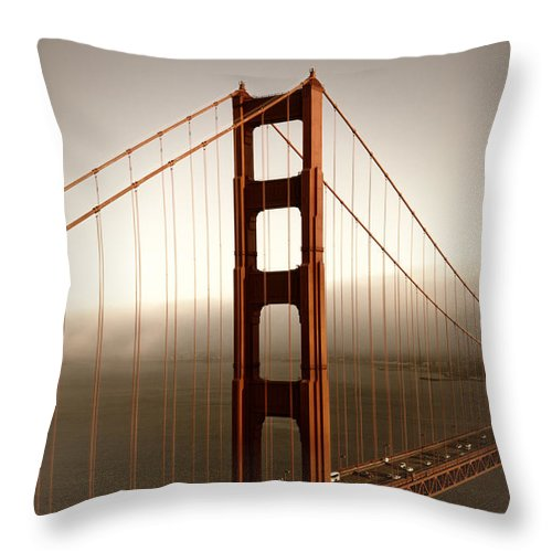 America Throw Pillow featuring the photograph Lovely Golden Gate Bridge by Melanie Viola