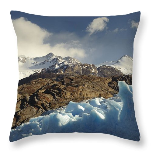 Chile Throw Pillow featuring the photograph Grey Glacier In Chilean National Park by John Shaw