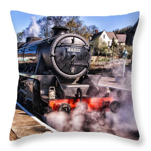 Nymr Throw Pillow featuring the photograph Grosmont Station by Trevor Kersley