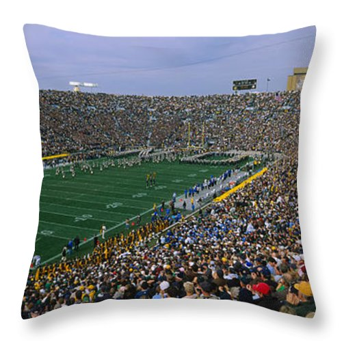 Photography Throw Pillow featuring the photograph High Angle View Of A Football Stadium by Panoramic Images