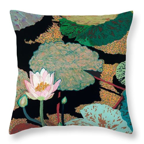 Landscape Throw Pillow featuring the painting Hot And Humid by Allan P Friedlander