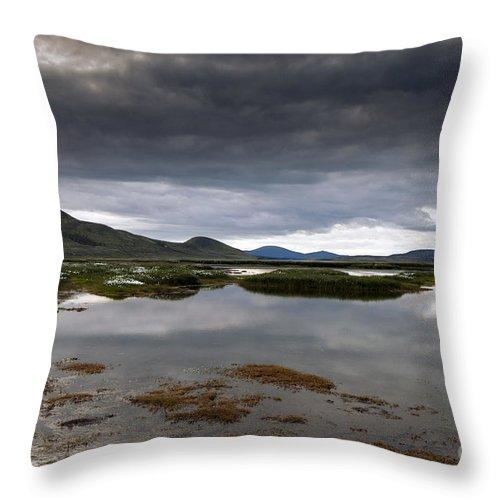 Reflection Throw Pillow featuring the photograph Iceland by Gunnar Orn Arnason