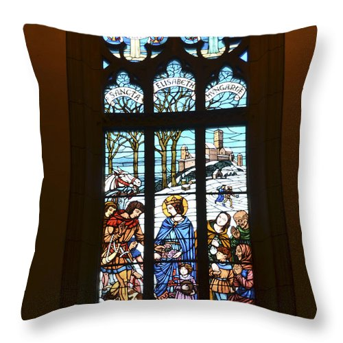 Igreja Luterana De Petropolis Throw Pillow featuring the photograph Igreja Luterana Of Petropolis- Brazil by Jon Berghoff
