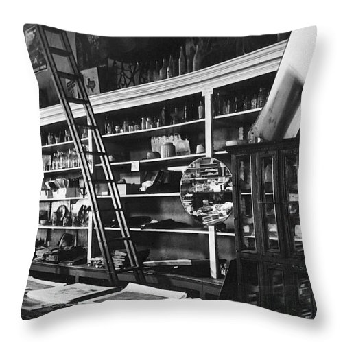Interior The Old Store Pearce Mercantile Ghost Town Pearce Arizona 1971 Throw Pillow featuring the photograph Interior The Old Store Pearce Mercantile Ghost Town Pearce Arizona 1971 by David Lee Guss