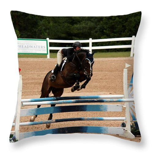 Equestrian Throw Pillow featuring the photograph Jumper9 by Janice Byer