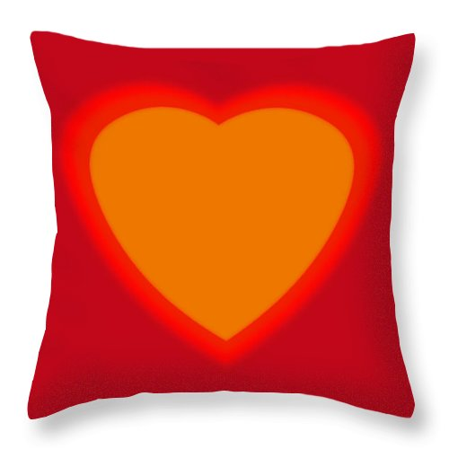 Love Throw Pillow featuring the painting Love Heart by Charles Stuart