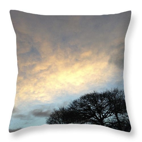 Autumn Throw Pillow featuring the photograph Morning Sky by Les Cunliffe