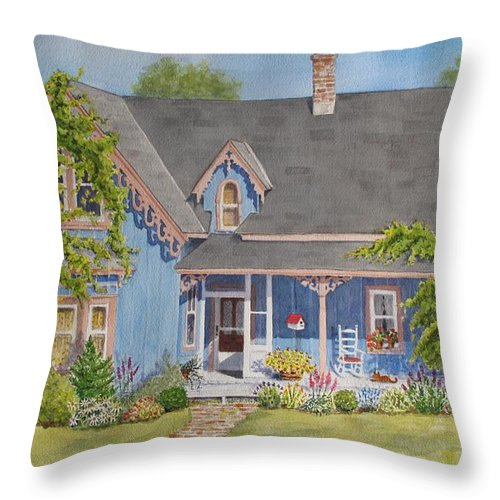 Canada Throw Pillow featuring the painting My Blue Heaven by Mary Ellen Mueller Legault