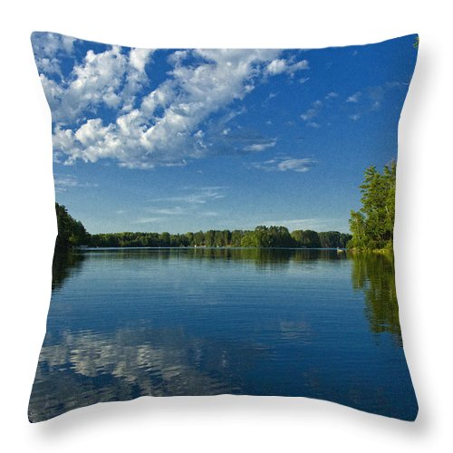North Throw Pillow featuring the photograph North Woods Lake by Birgit Tyrrell