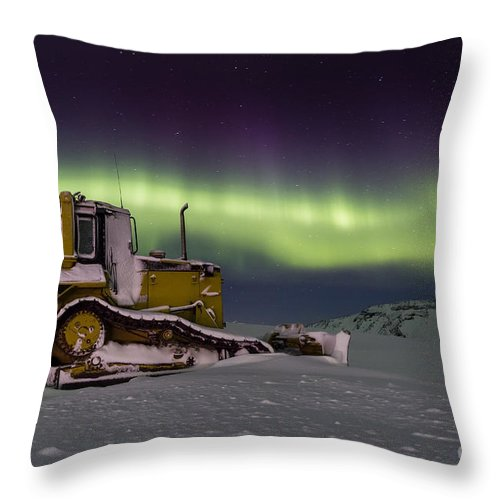 Northern Throw Pillow featuring the photograph northern Lights iceland by Gunnar Orn Arnason