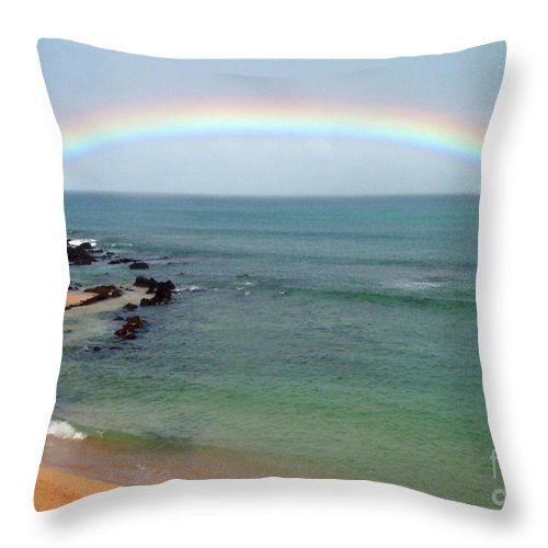 Rainbow Throw Pillow featuring the photograph Perfect by Suzette Kallen