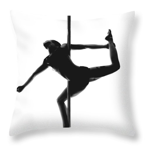 Pole Throw Pillow featuring the photograph Pole Silhouette by Marino Flovent