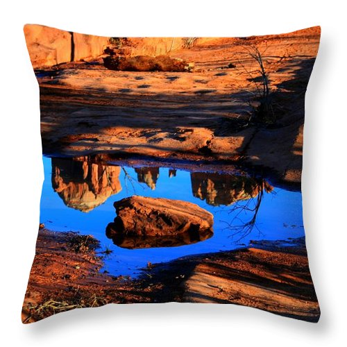 Arizoan Throw Pillow featuring the photograph Rocky Road by Miles Stites