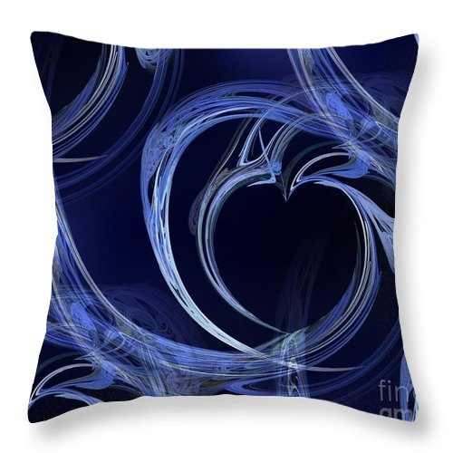Abstract Throw Pillow featuring the digital art Seamless Background Fractal by Henrik Lehnerer