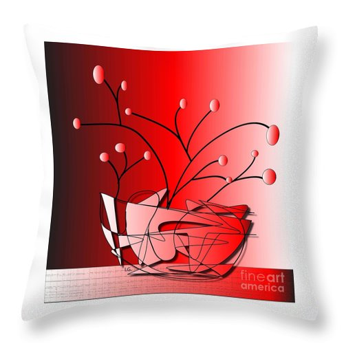 Illustration Throw Pillow featuring the drawing Simplicity by Iris Gelbart