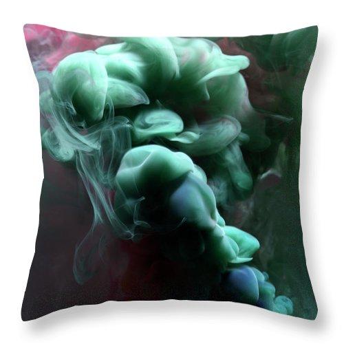 Black Background Throw Pillow featuring the photograph Smoke by Henrik Sorensen