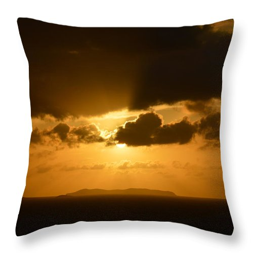 Sunset Throw Pillow featuring the photograph Sunset In The Caribbean by Richard Booth