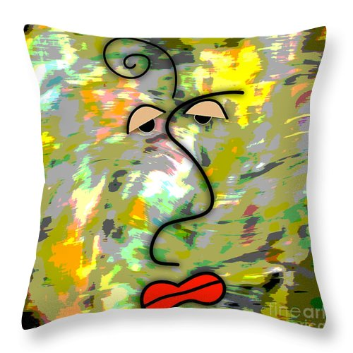 Picasso Photographs Mixed Media Mixed Media Mixed Media Mixed Media Throw Pillow featuring the mixed media The Face by Marvin Blaine