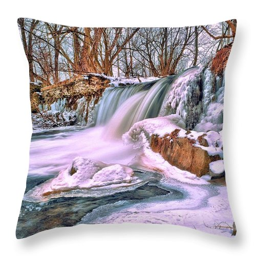 Water Fall Throw Pillow featuring the photograph Tracybphotography by Tracy Bennett