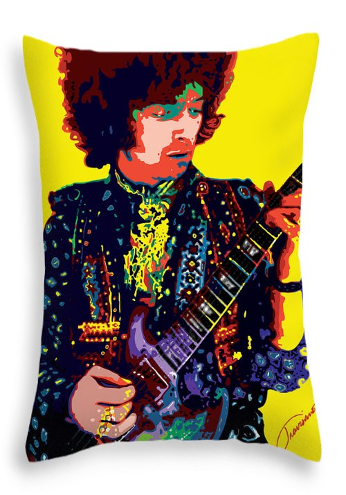 Eric Clapton Throw Pillow featuring the painting Transcendent Clapton by John Travisano