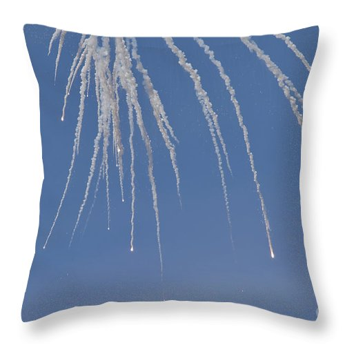 Czech Republic Throw Pillow featuring the photograph Ukrainian Air Force Su-27 Flanker by Timm Ziegenthaler