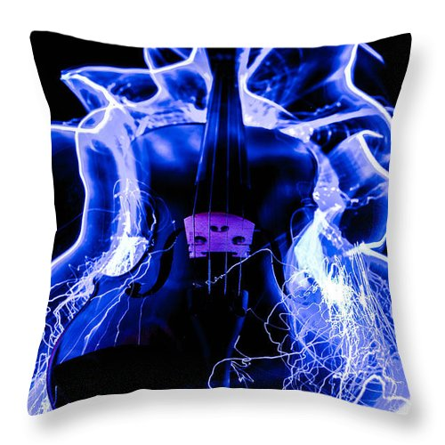 Violin Throw Pillow featuring the photograph Violin by Gerald Kloss