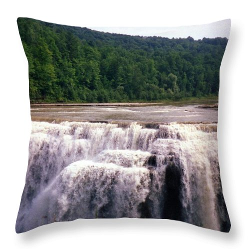 Waterfall Throw Pillow featuring the photograph Waterfall by Jo Jurkiewicz