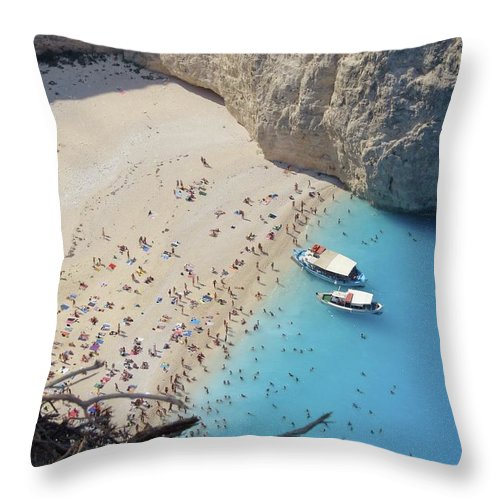 Scenics Throw Pillow featuring the photograph Zantes, Grecia by Joy Ride By Taylor