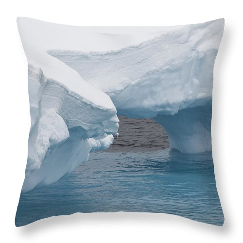 Antarctica Throw Pillow featuring the photograph Iceberg, Antarctica by John Shaw
