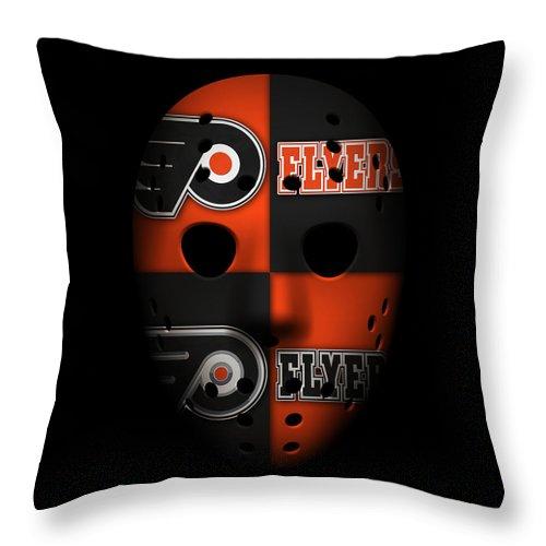 Flyers Throw Pillow featuring the photograph Philadelphia Flyers by Joe Hamilton
