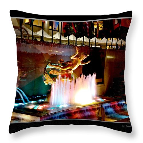 30 Throw Pillow featuring the photograph 30 Rock Statue by Larry Jost