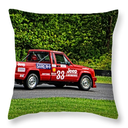 Jeep Throw Pillow featuring the photograph 33 Jeep Motorsports by Mike Martin