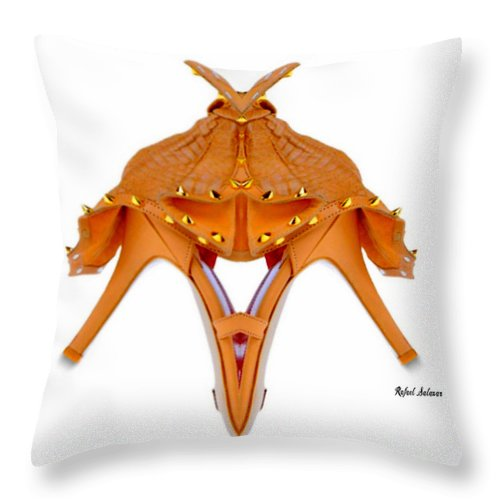 Conceptual Throw Pillow featuring the digital art Shoe Love by Rafael Salazar