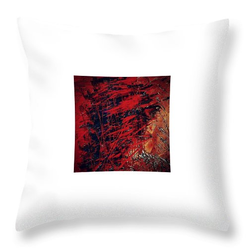 Beautiful Throw Pillow featuring the photograph Brunette by J Love