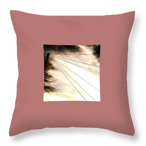 Beautiful Throw Pillow featuring the photograph Dramatic Sky 2 by J Love