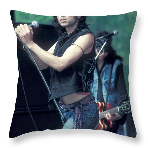 Vest Throw Pillow featuring the photograph 39 Steps - Chris Barry by Concert Photos