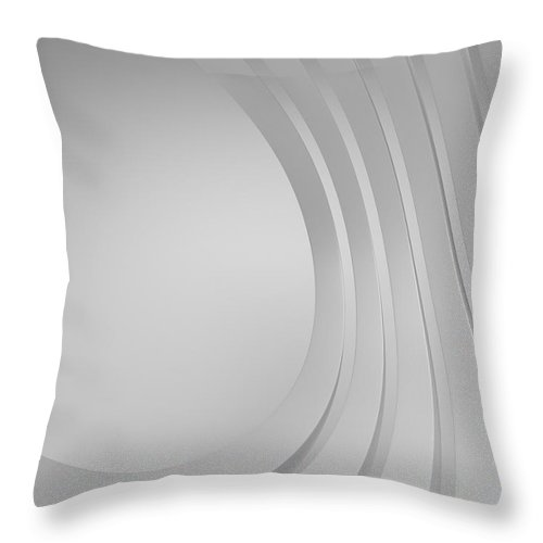 Arch Throw Pillow featuring the photograph 3d Blank Abstract Architecture by Me4o