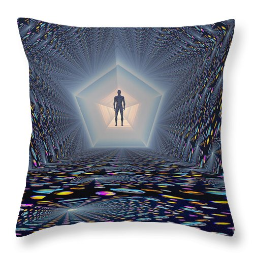 Horizontal Throw Pillow featuring the digital art 3d Concept Of How Mankind Will Use by Mark Stevenson