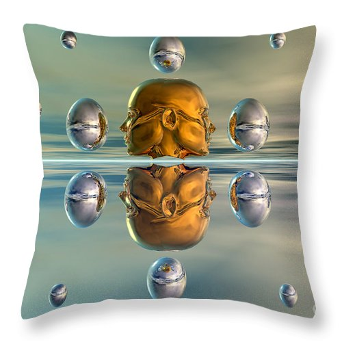 Horizontal Throw Pillow featuring the digital art 3d Concept Showing The Advancement by Mark Stevenson