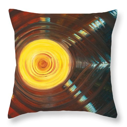 Abstract Throw Pillow featuring the painting 3rd Eye by Jessica Rosen