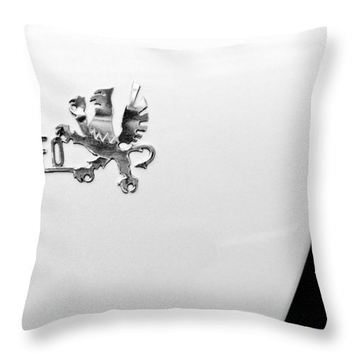 1971 Iso Grifo Can Am Emblem Throw Pillow featuring the photograph 1971 Iso Grifo Can Am Emblem by Jill Reger