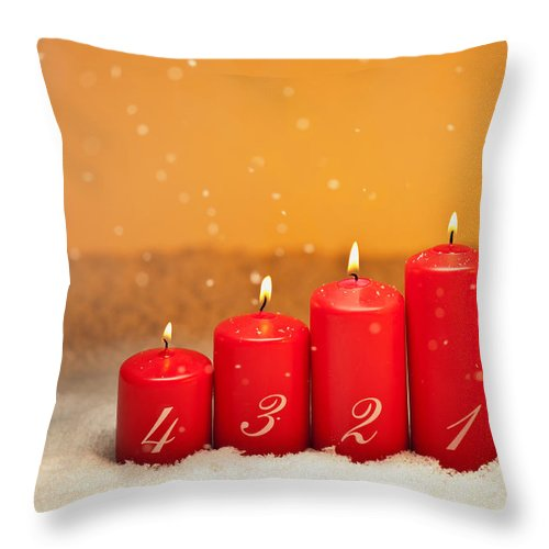 Decoration Throw Pillow featuring the photograph 4th Advent by U Schade