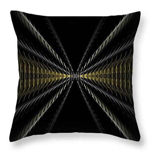 Original Throw Pillow featuring the painting Abstract 100 by J D Owen