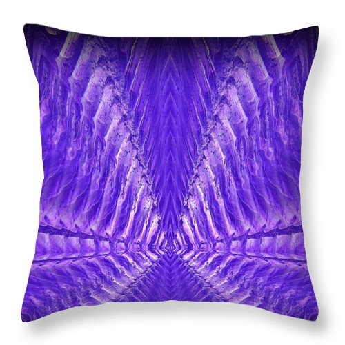 Original Throw Pillow featuring the painting Abstract 104 by J D Owen