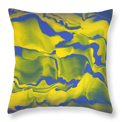Original Throw Pillow featuring the painting Abstract 106 by J D Owen