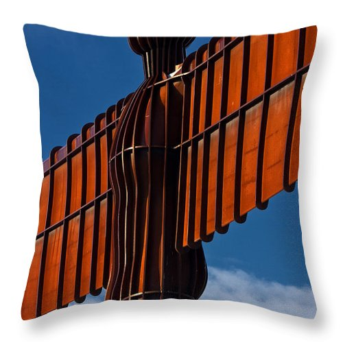 Angel Of The North Throw Pillow featuring the photograph Angel Of The North by David Pringle