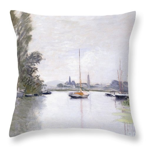 Monet Throw Pillow featuring the painting Argenteuil by Claude Monet
