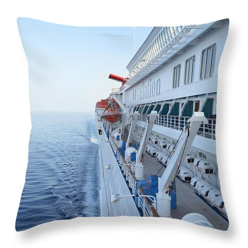Carnival Throw Pillow featuring the photograph Carnival Elation by Richard Booth