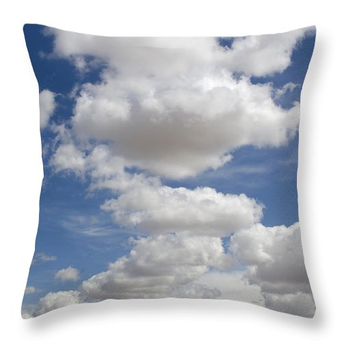 Clouds Throw Pillow featuring the photograph Clouds And Field by John Shaw